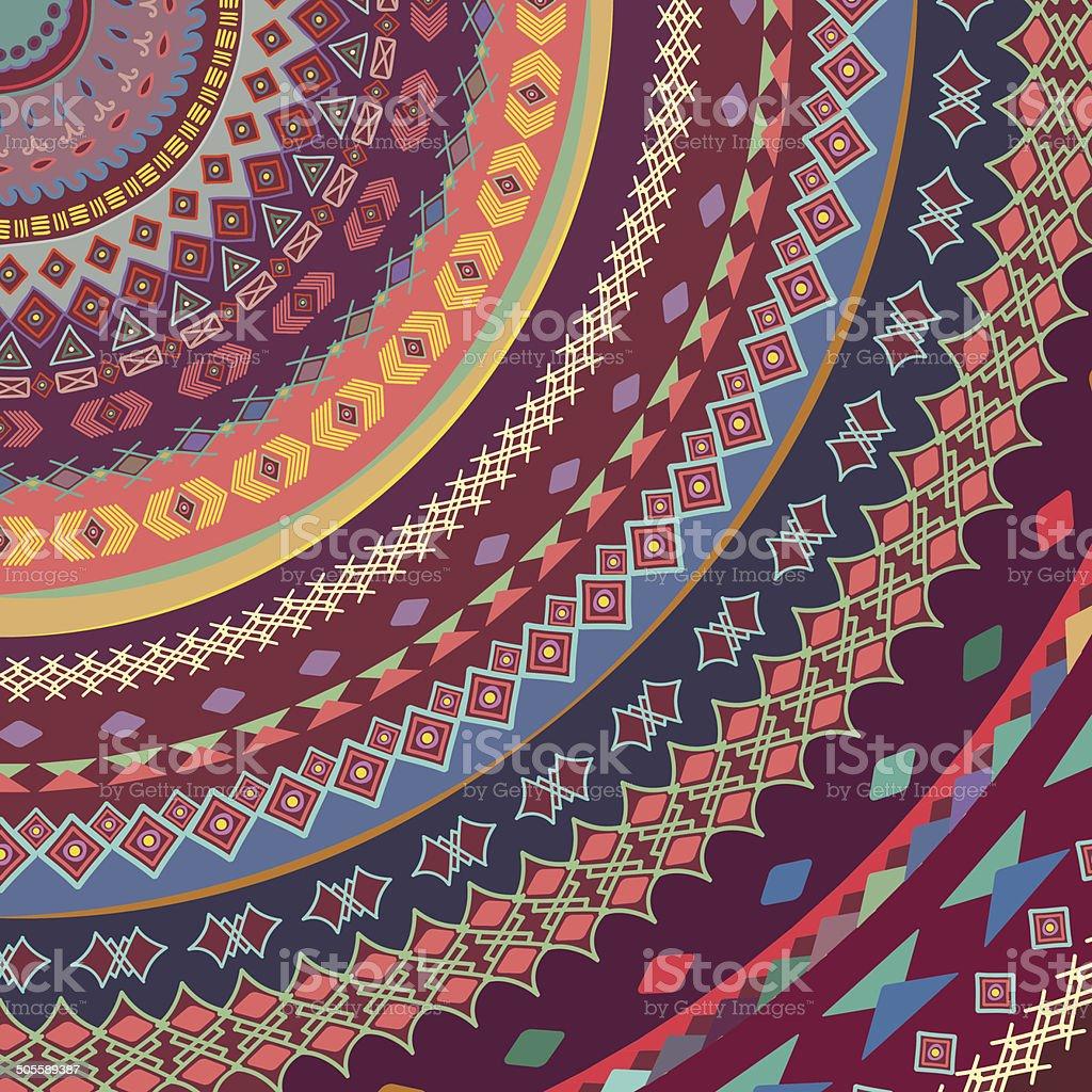 Background of bright ornamental pattern. vector art illustration