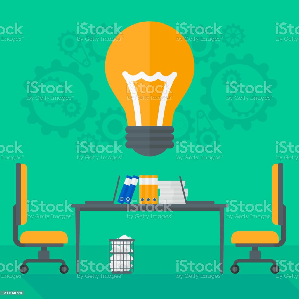 Background of business office vector art illustration