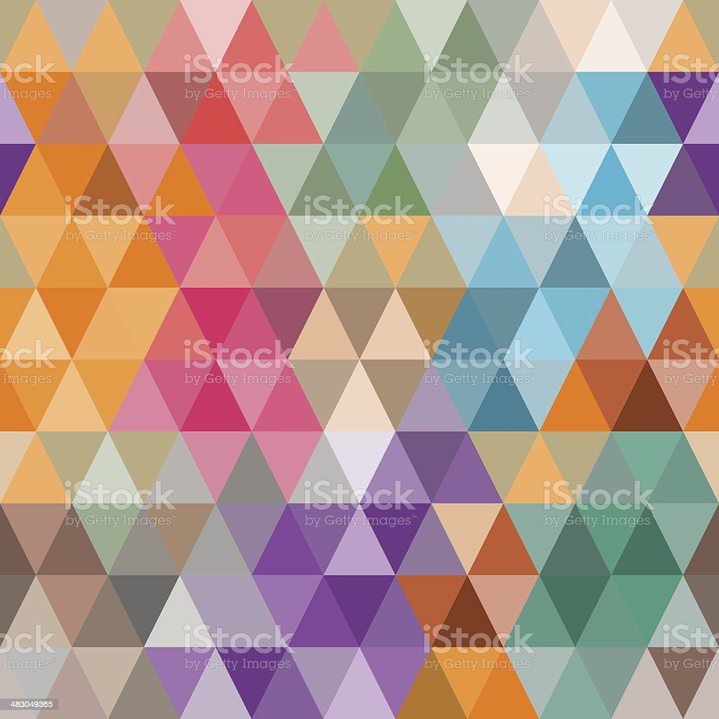 Background of colored triangles. vector art illustration
