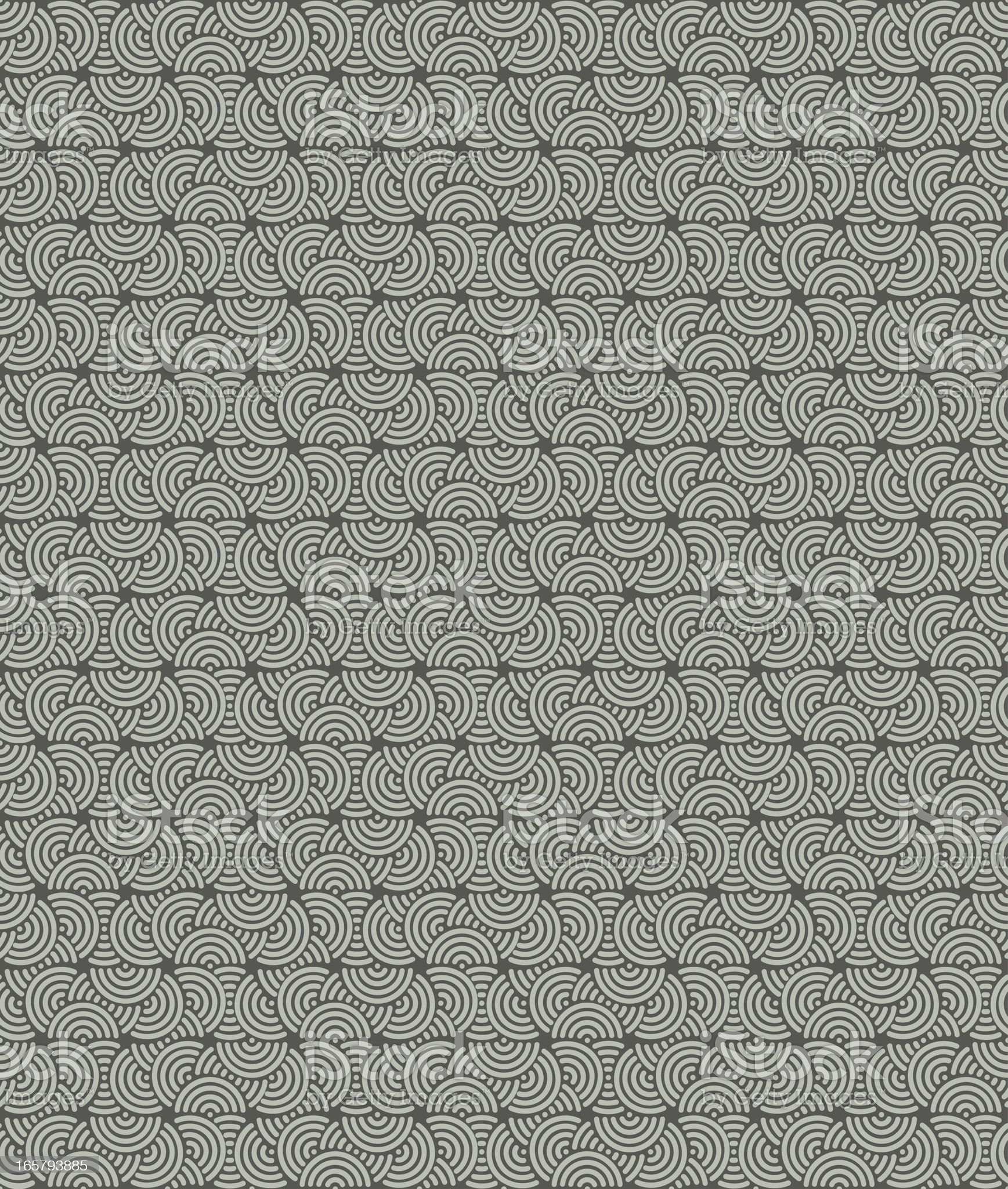 Background of concentric circles in a seamless pattern royalty-free stock vector art