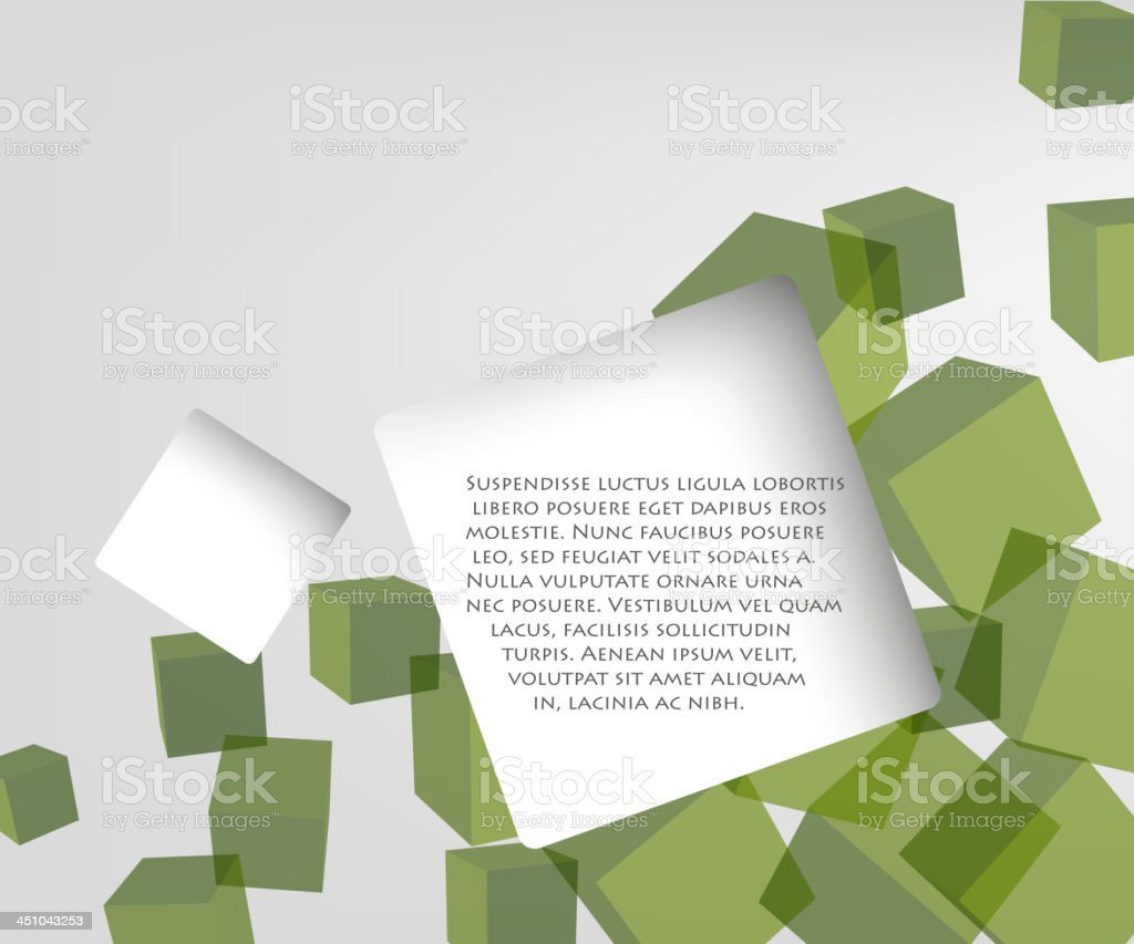 background of cubes royalty-free stock vector art