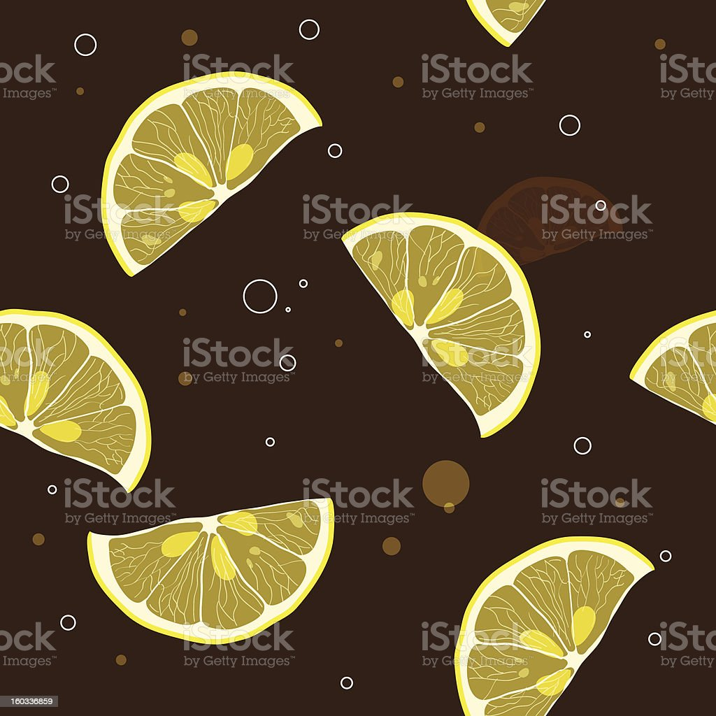 Background of lemon slices royalty-free stock vector art