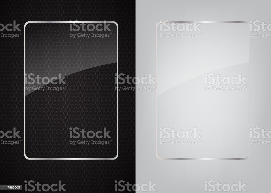 A background of metallic abstract on a glass frame royalty-free stock vector art