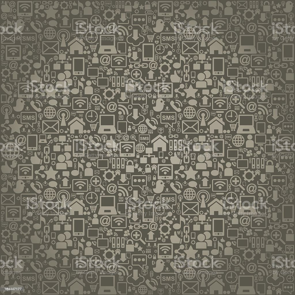 Background of miniature social network icons in gray hues royalty-free stock vector art