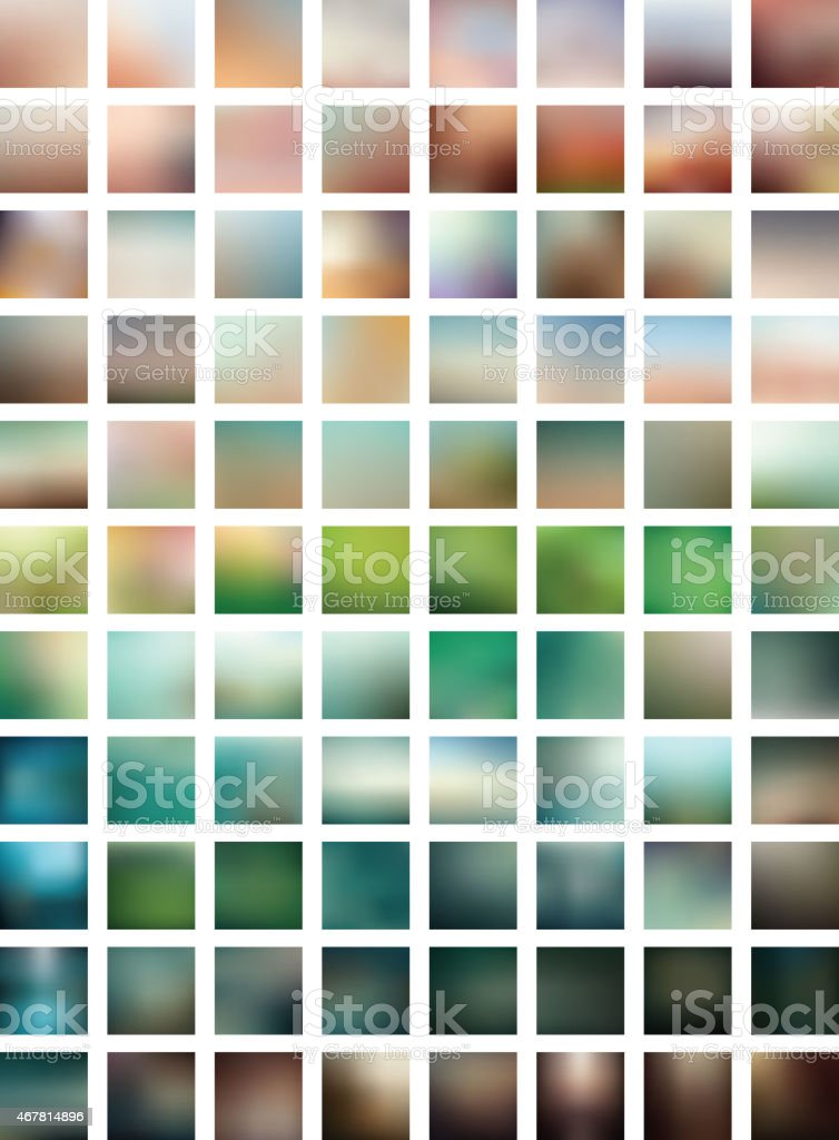 Background of multicolored blurred vectors vector art illustration