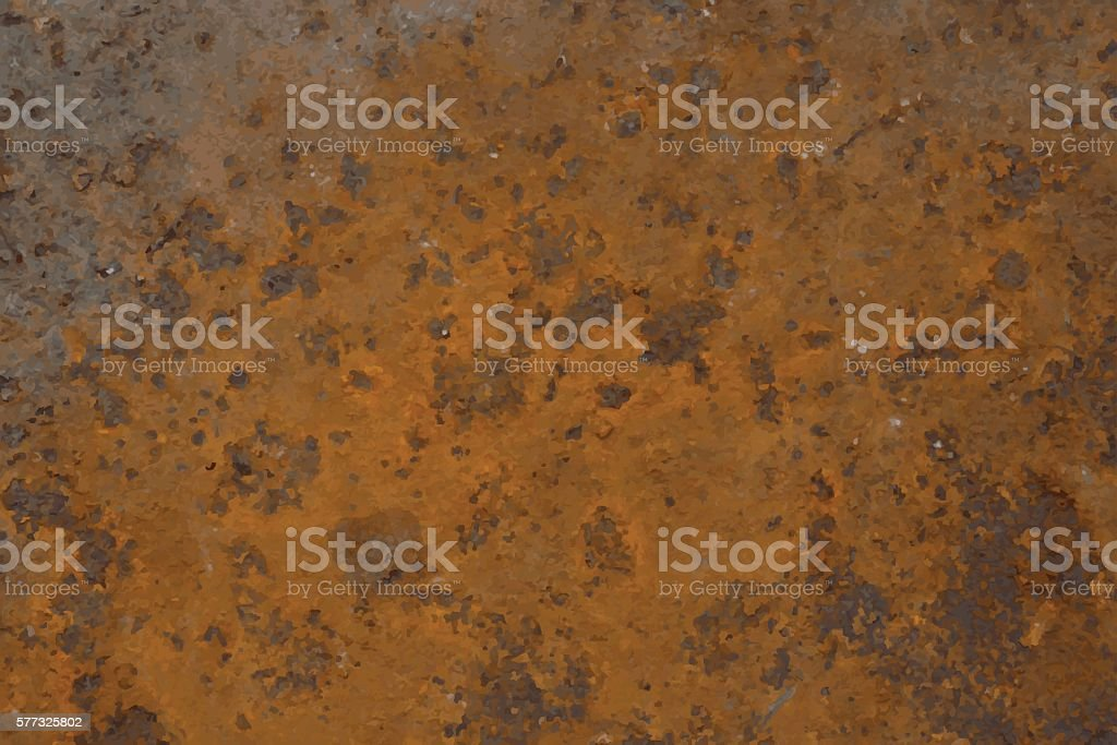 Background of rusted metal vector art illustration