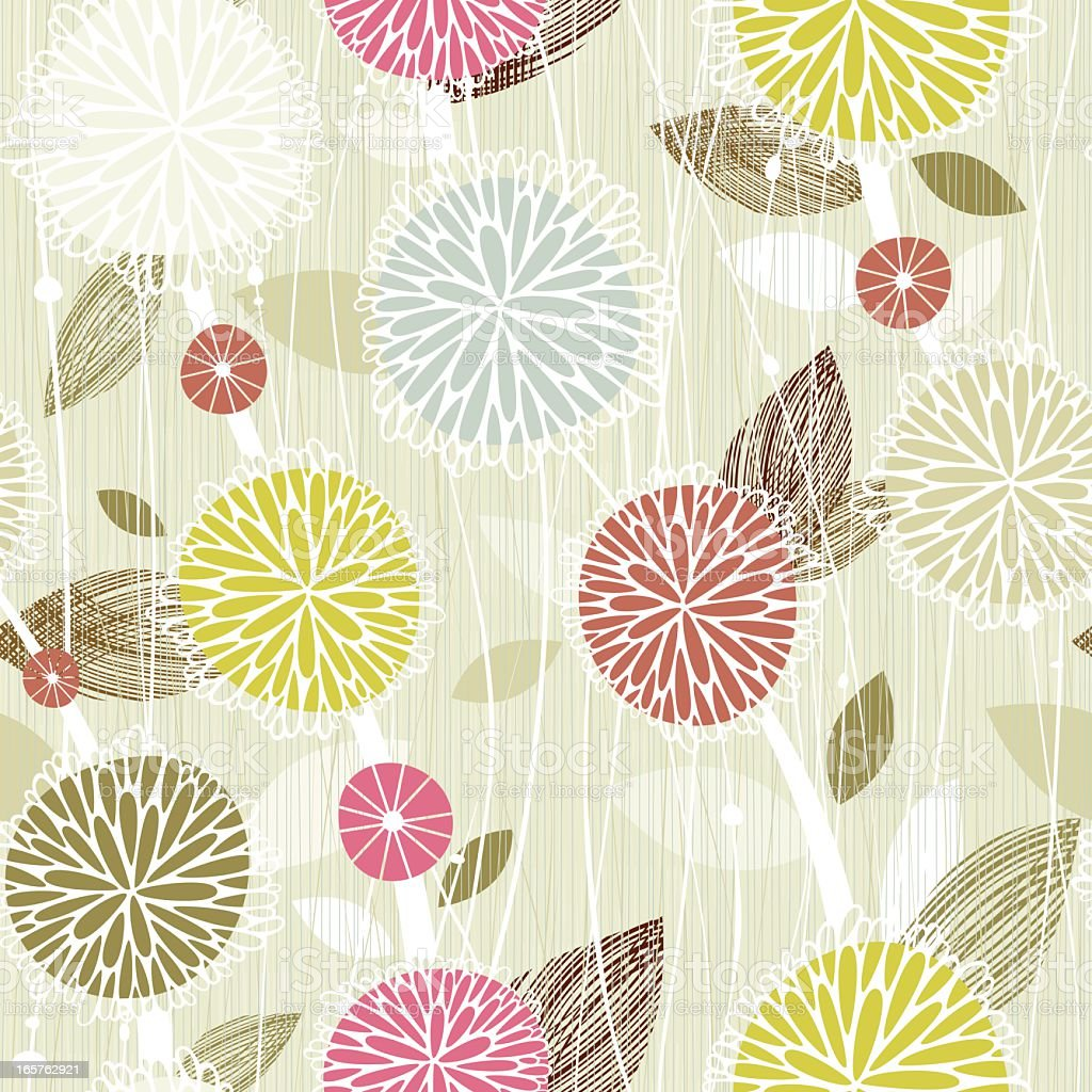Background of seamless floral with many colors vector art illustration