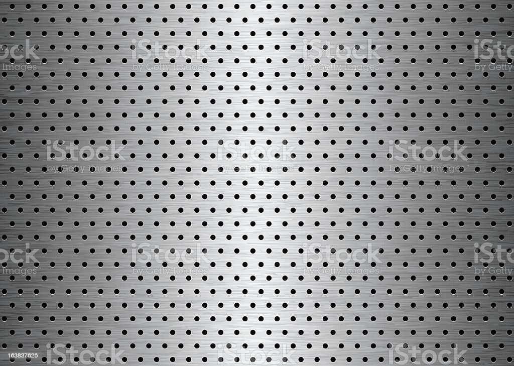 Background of sheet metal with holes drilled into it royalty-free stock vector art