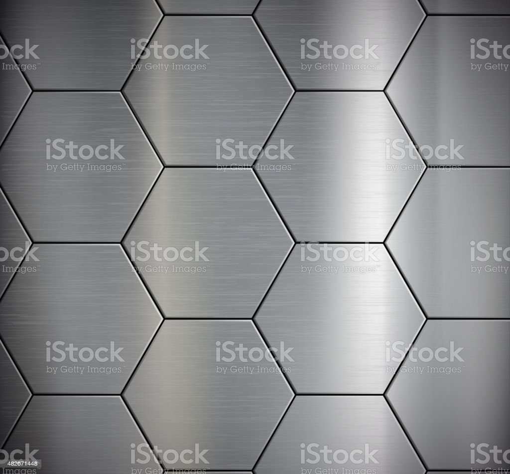 Background of the metal plates. vector art illustration