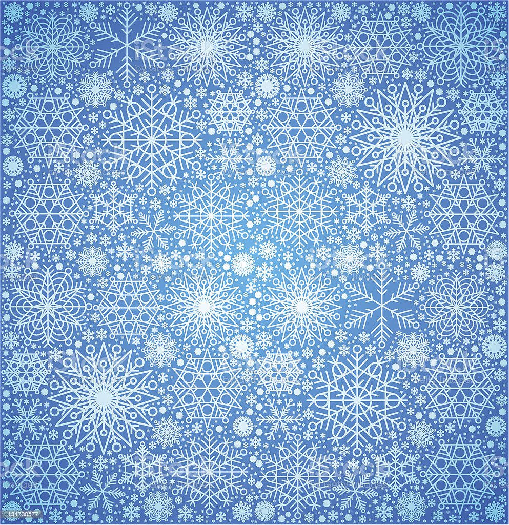 background of the snow-flakes royalty-free stock vector art