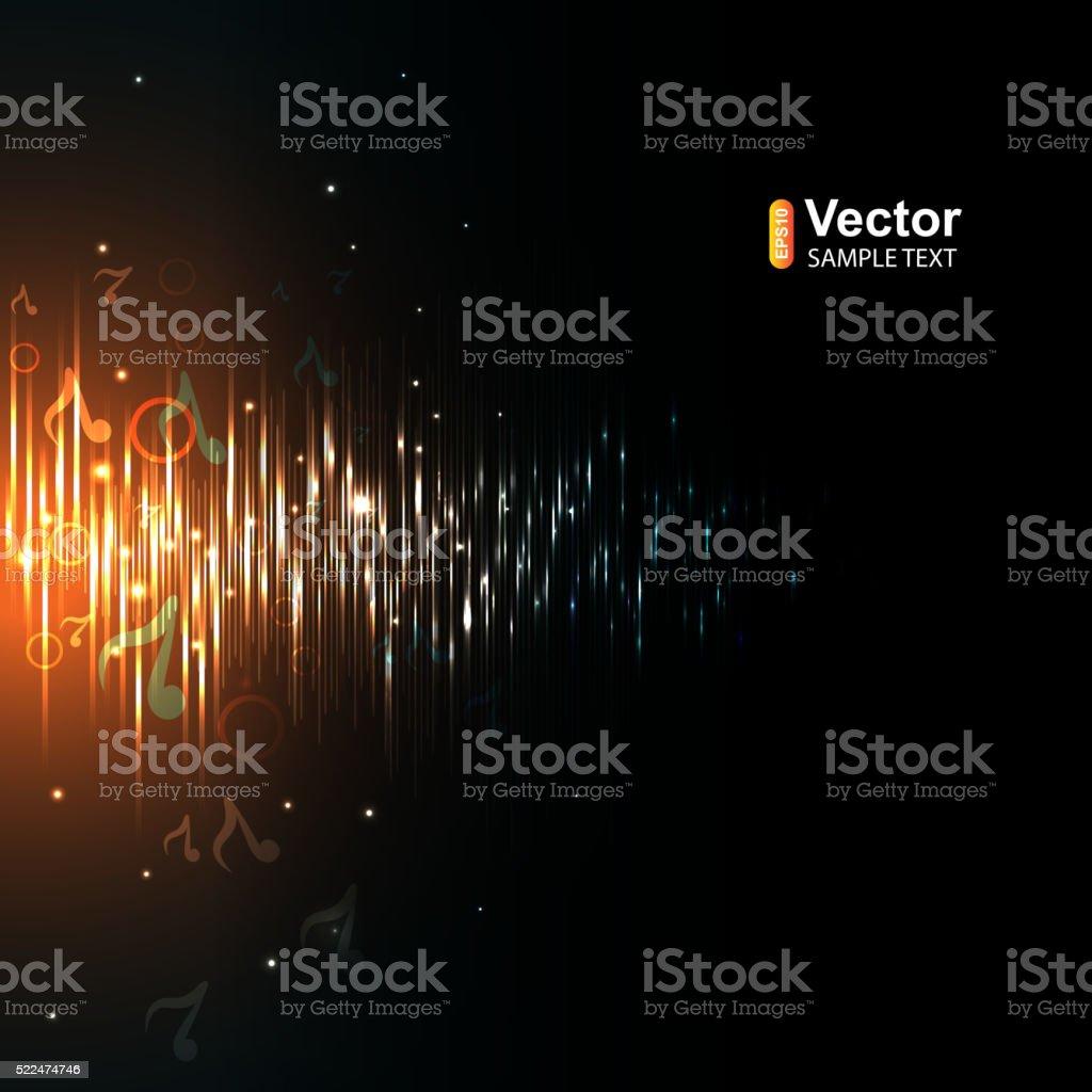 Background on a musical flyer vector art illustration