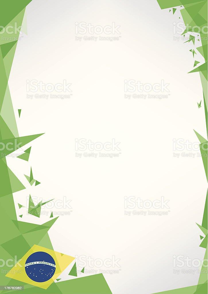 background origami of brazil. vector art illustration