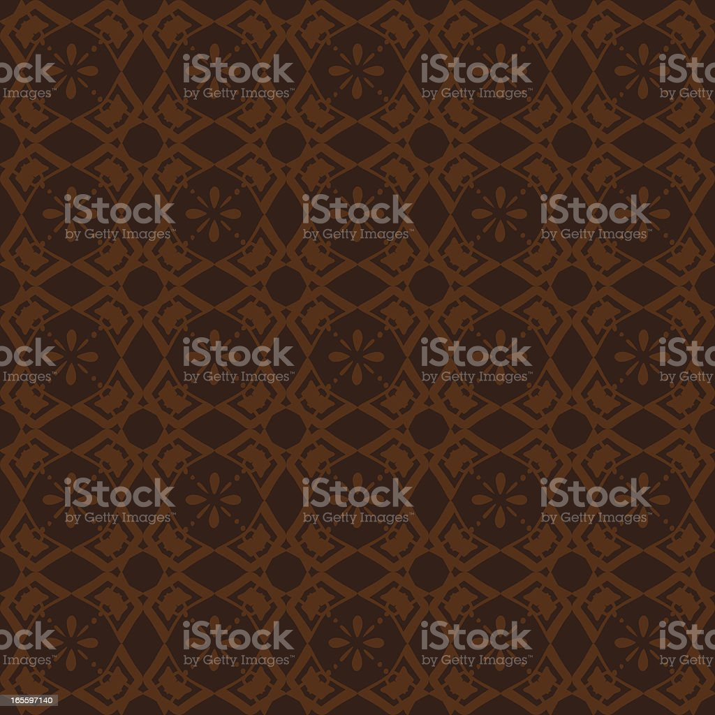 Background - Ornate Brown vector art illustration