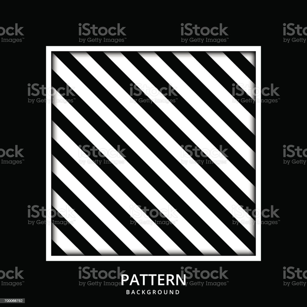 And black diagonal stripes background seamless background or wallpaper - Background Pattern Stripe Seamless Vector Black And White Colors With Square Frame Wallpaper Backdrop Diagonal