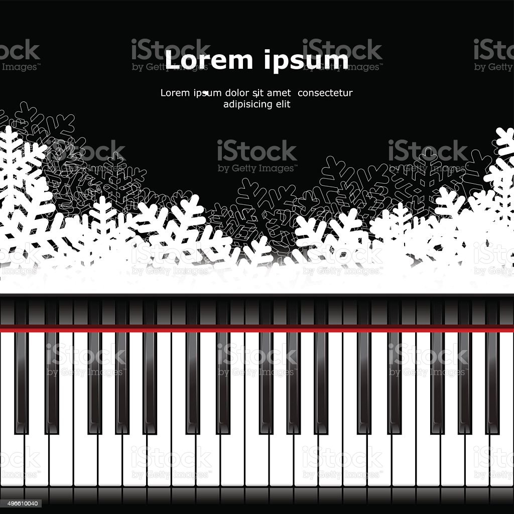 background piano template vector art illustration