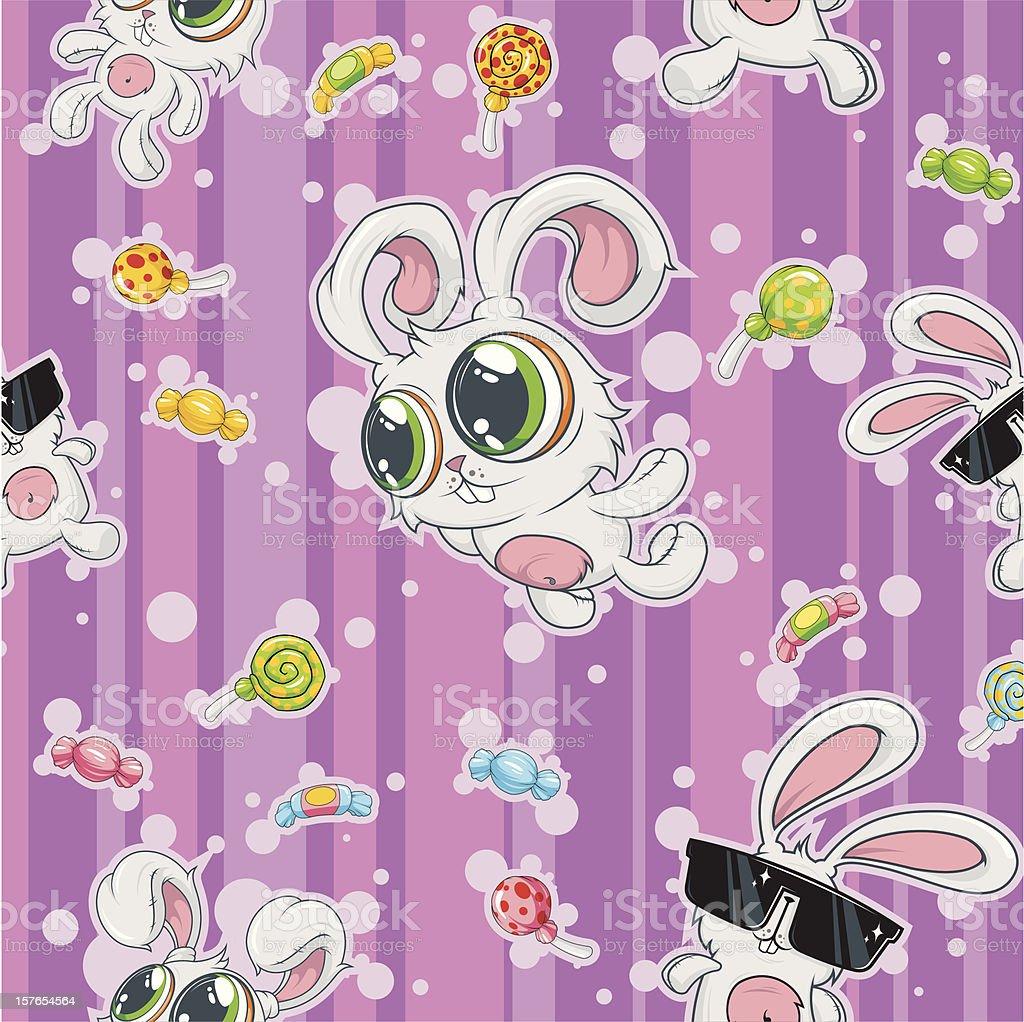 Background rabbits royalty-free stock vector art