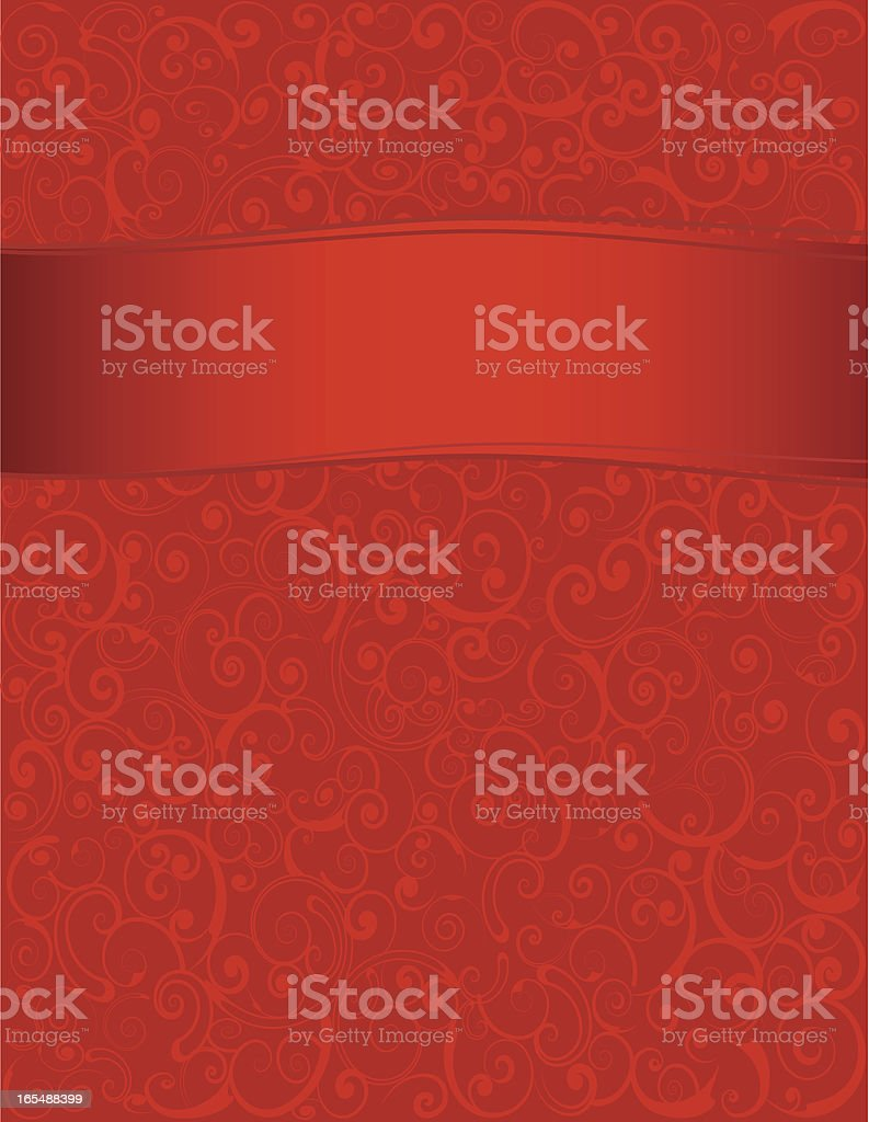 Background - Red Swirls royalty-free stock vector art