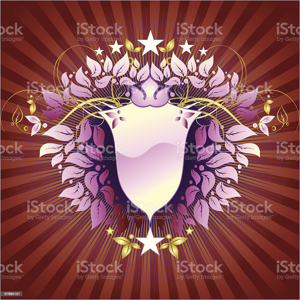 Background shield royalty-free stock vector art