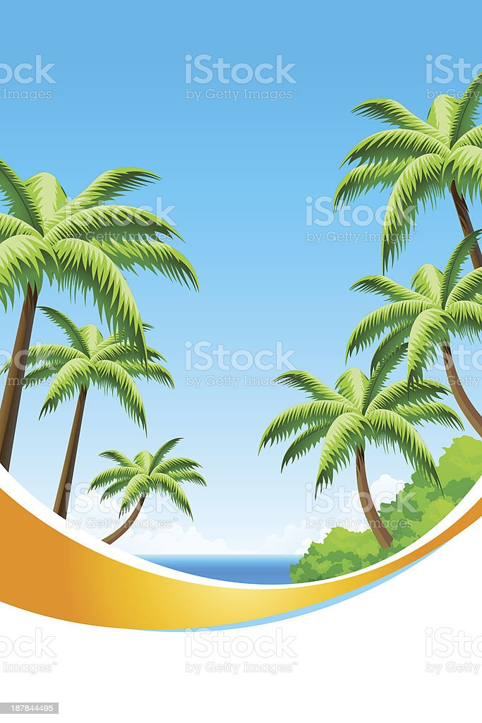 Background Summer Vacation royalty-free stock vector art