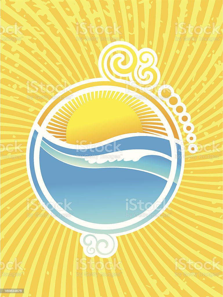 background summer royalty-free stock vector art