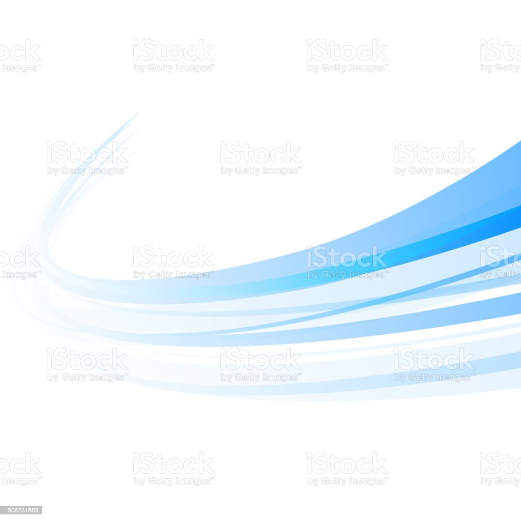 Background swirl blue vector art illustration