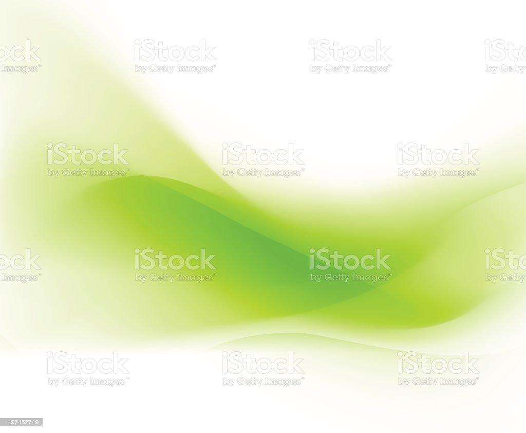 Background swirl green vector art illustration
