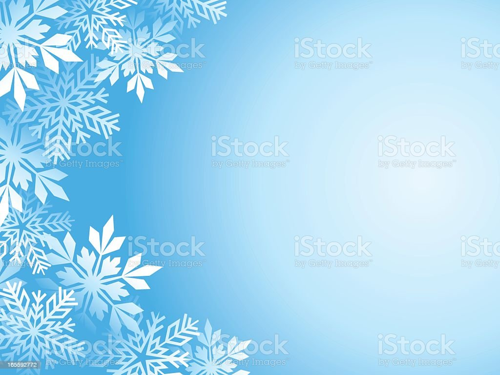 Background template with a snowflake border royalty-free stock vector art