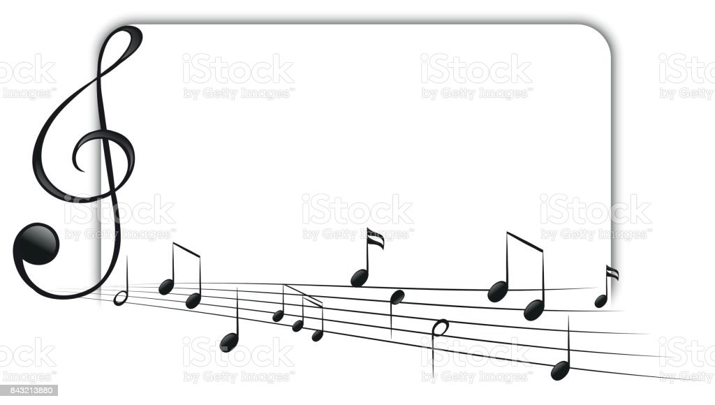 Silhouette Of The Music Musical Note Notes Border Borders Clip Art