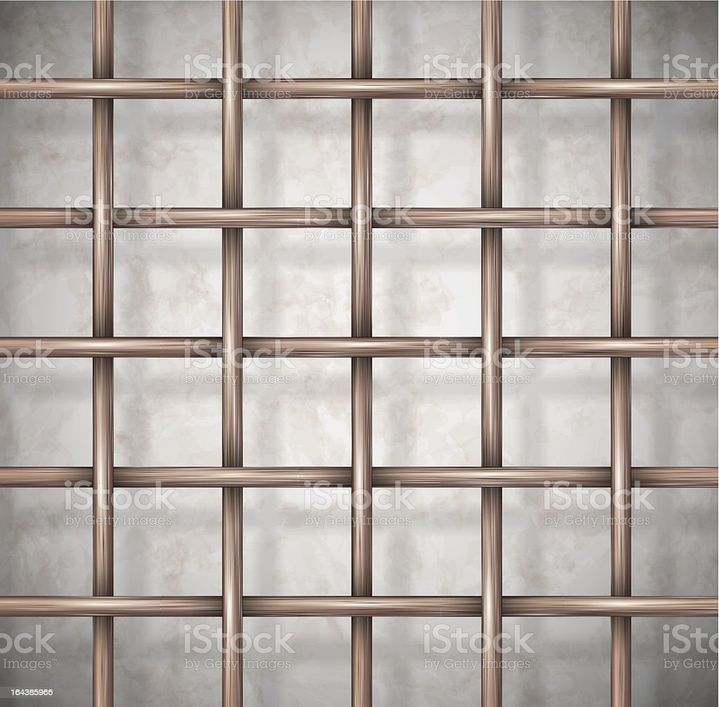 Background the cage royalty-free stock vector art