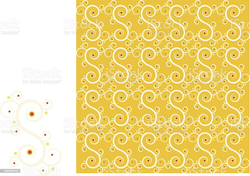Background tiling pattern - Indian motif royalty-free stock vector art