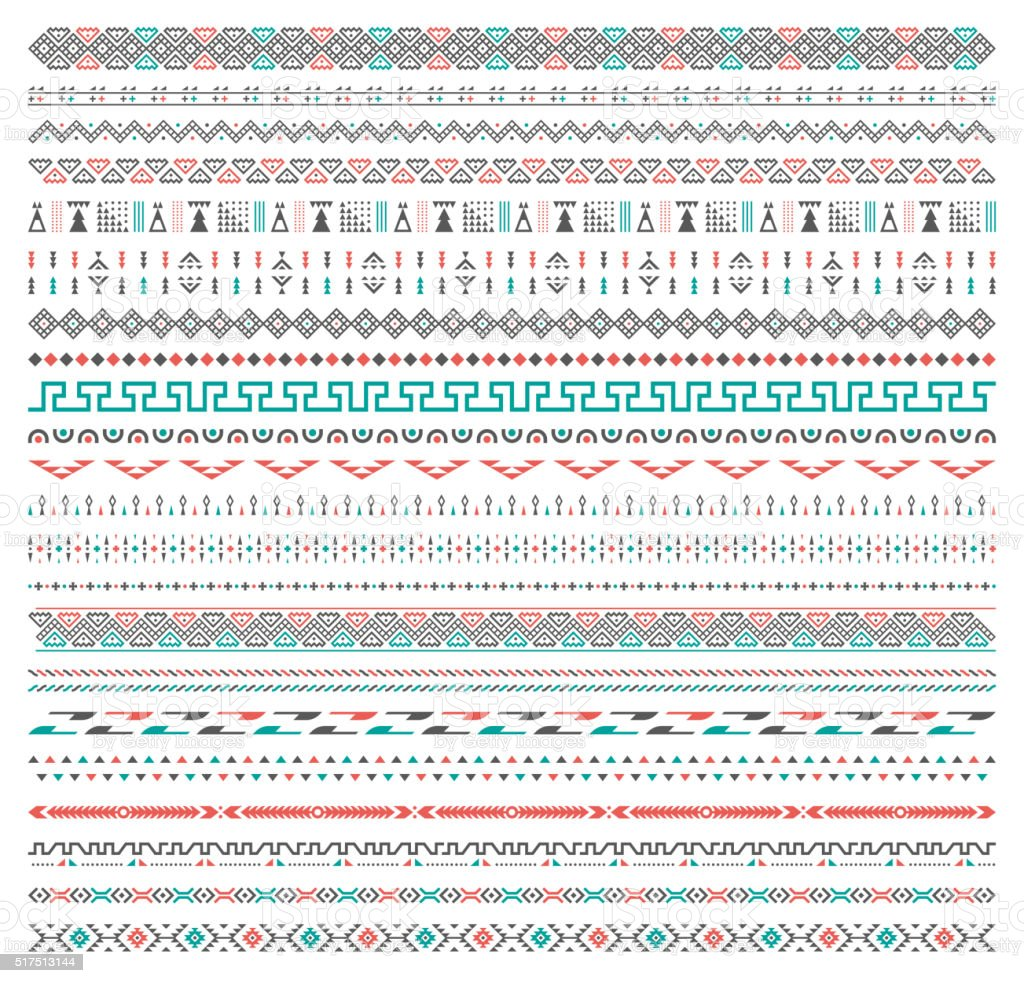 Background Tribal Pattern vector art illustration