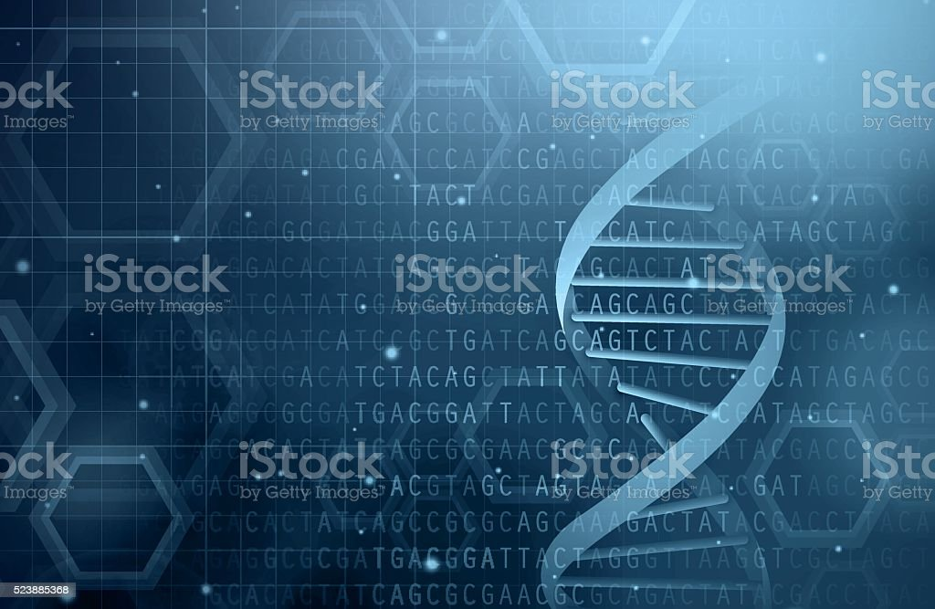 DNA background vector art illustration