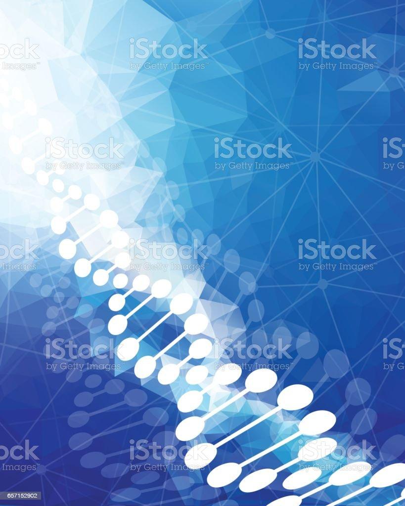 DNA Background vector art illustration