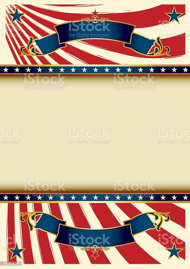 Background vintage USA vector art illustration