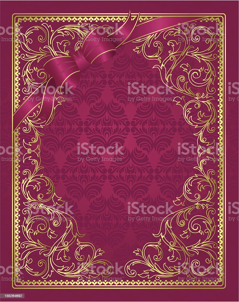 background with a bow royalty-free stock vector art