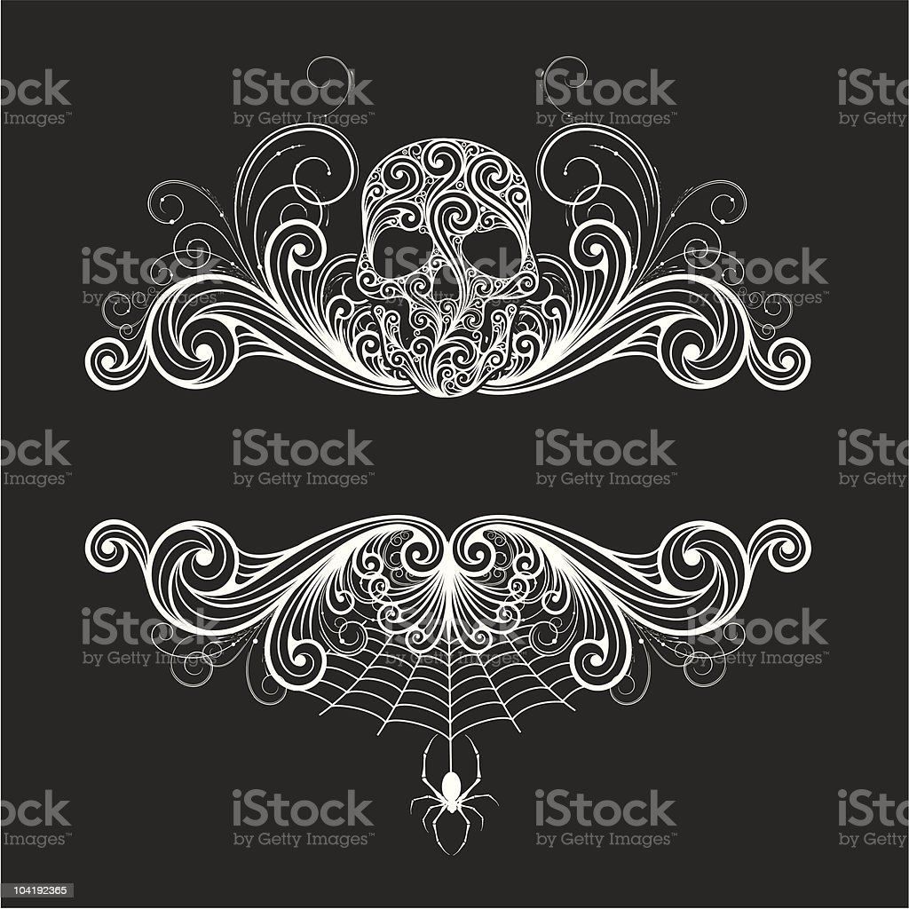 Background  with a decorative skull vector art illustration