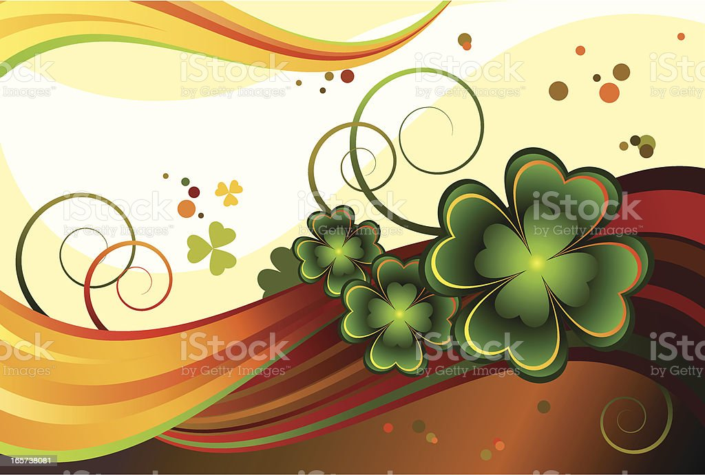 Background with a good clover royalty-free stock vector art