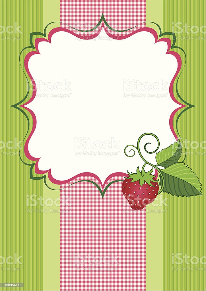 Background with a strawberry royalty-free stock vector art