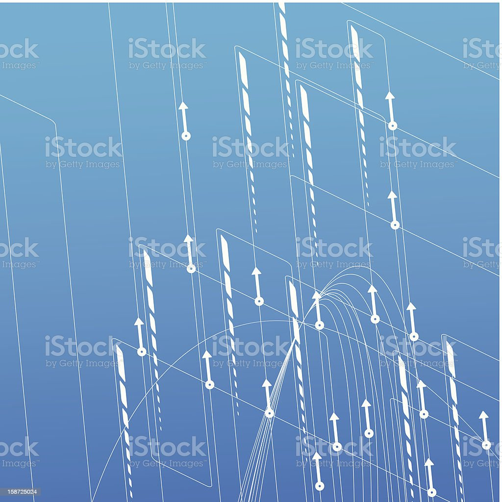 background with arrows randomly directed royalty-free stock vector art