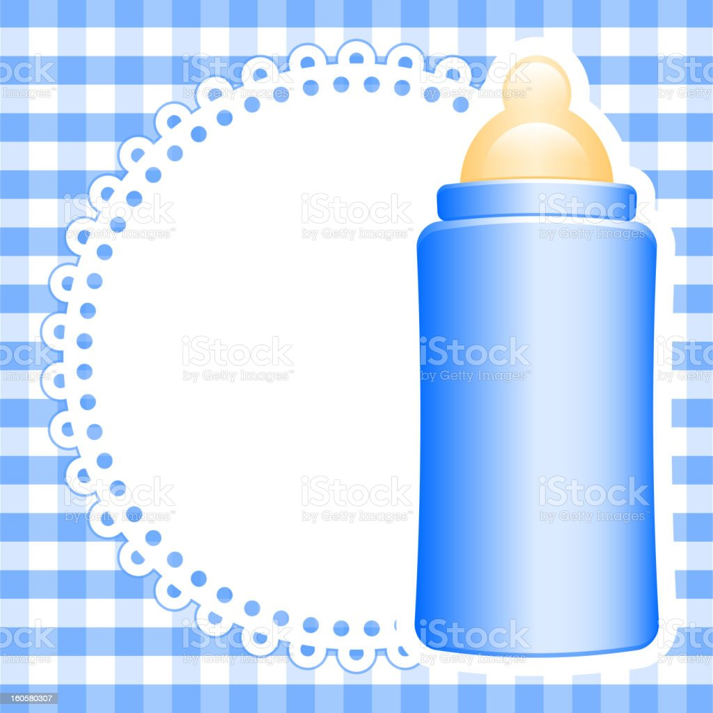 background with baby bottle vector art illustration