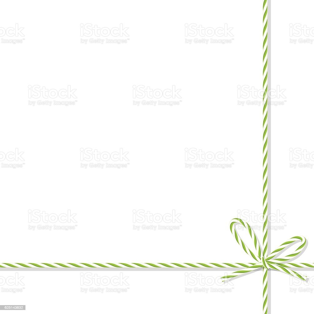 Background with bakers twine bow and ribbons vector art illustration