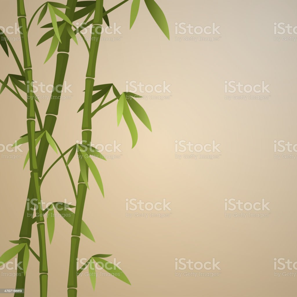 Background with bamboo stems vector art illustration