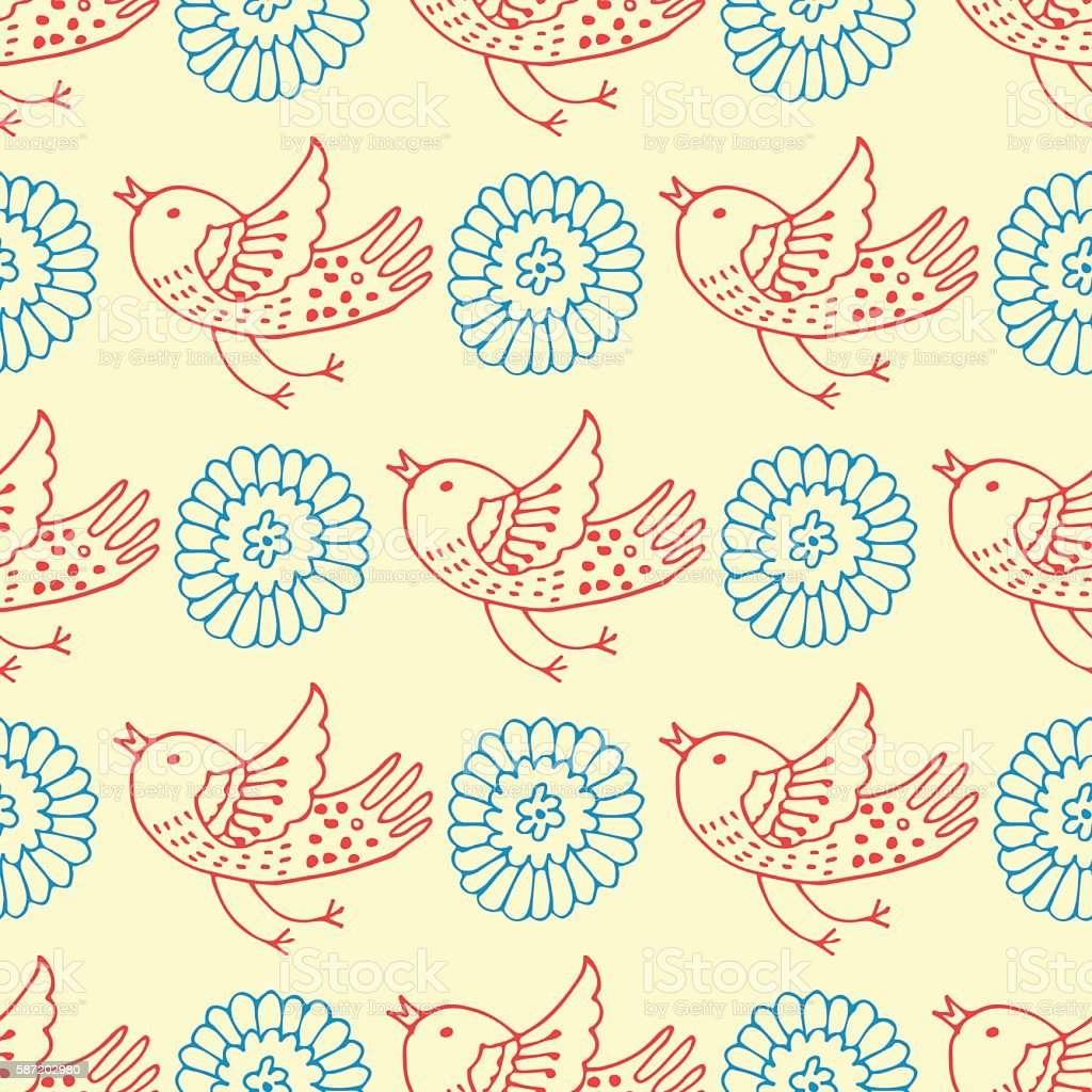 background with birds royalty-free stock vector art