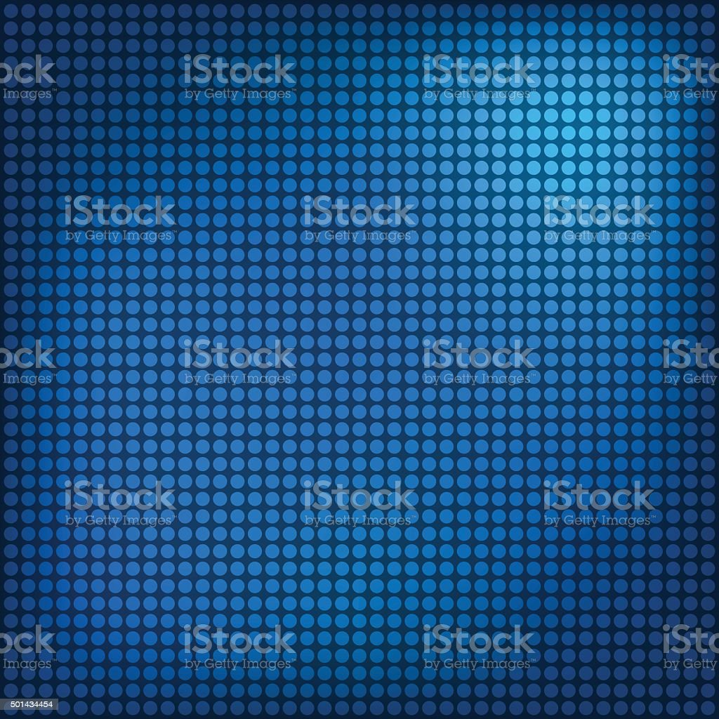 Background with blue dots vector art illustration