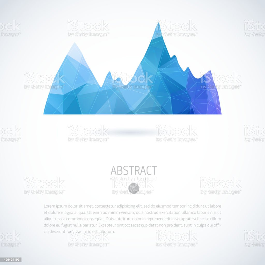 Background with blue mountain vector art illustration