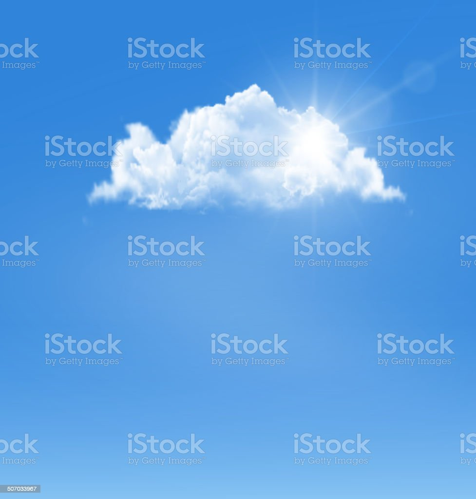 Background with blue sky and a cloud. Vector. royalty-free stock vector art