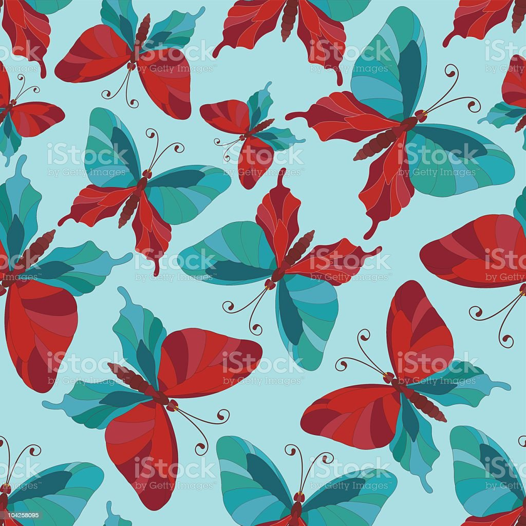 Background with butterflies royalty-free stock vector art