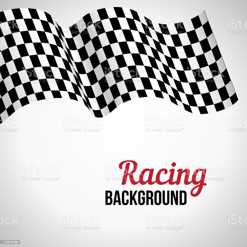 Background with checkered racing flag. vector art illustration