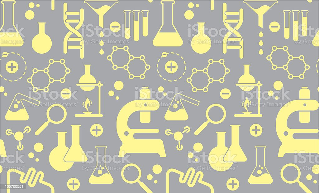 Background with chemistry elements royalty-free stock vector art