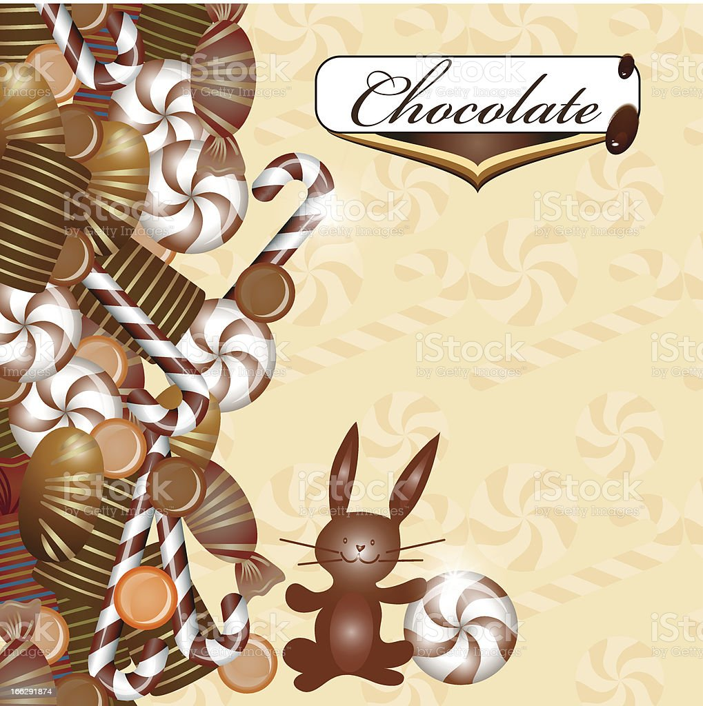 Background with chocolate royalty-free stock vector art